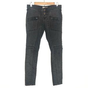 Free People | Zipper Pockets Moto Skinny Jeans 29